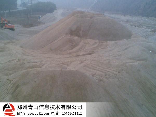 河卵石机制砂现场
